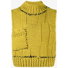 Raf Simons Cropped Knitted Sweater Vest (€660) ❤ liked on Polyvore featuring men's fashion, men's clothing and raf simons