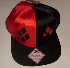 info for fb0ef 596f1 Dc comics harley quinn suit up snapback men s women s hat cap flat bill new