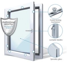 High Security Windows : Tilt and Turn Windows | TiltTurnWindows.ca Window Security Bars, Tilt And Turn Windows, Window Accessories, Home Protection, Hardware, Ideas, Computer Hardware, Thoughts