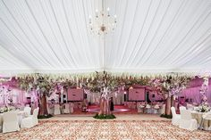 How to decorate a wedding tent - wedding reception decor