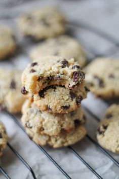 Almond & Coconut Chocolate Chip Cookies