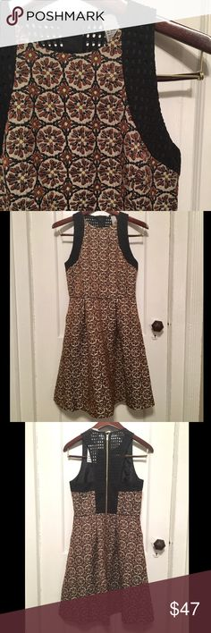 NWT H&M patterned dress Brand new wth tags, patterned dress from H&M with netting detail on the back, racerback shape to back, perfect for a wedding, special occasion, or work! H&M Dresses Midi