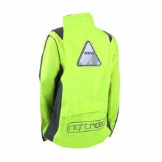 Proviz Nightrider - High Visibility Cycling Jacket - Womens.  Good reflective triangle, but did you have to paste an oversized logo on the butt? $96.