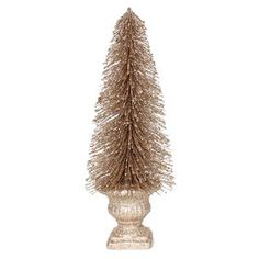 Picture of 12-in Bottle Brush Gold Tree