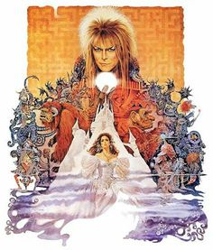 Labyrinth; I still adore this movie. Not  a huge hit at the time but I believe this has to be one of the most all encompassing worlds I have ever had the joy to visit. A story that covers that twilight moment between childhood & adulthood. I still think the ball gown Jennifer Connelly wears in the movie remains of the prettiest movie costumes I ever did see. Bowie remains one of the great movie villains equal parts seductive & menacing. Forever Love.
