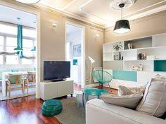 Accente turcoaz într-un apartament din Barcelona Jurnal de design interior