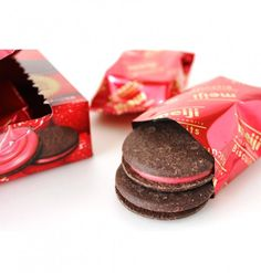 Meiji Rich Strawberry Biscuits