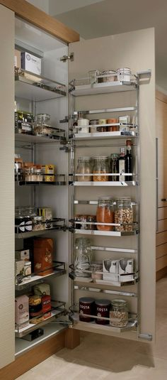 Pull Out Shelves An Best Option for Kitchen Pantry Storage. Pull Out Shelves An Best Option for Kitchen Pantry Storage. 35 Variety Of Appliances Storage Ideas for Your Kitchen Kitchen Corner Cupboard, Kitchen Cupboard Organization, Kitchen Pantry Cabinets, Modern Kitchen Cabinets, Diy Kitchen Storage, Organized Kitchen, Cupboard Storage, Corner Pantry, Kitchen Utensils