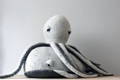 Big Handmade Plush Whale Stuffed Animal Cotton by BigStuffed