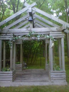 """Lovely """"secret"""" wedding chapel- i found down an overgrown path when hiking. when I came back with my fiancee the next spring, it was demolished :(  The names of all the people who got married were engraved in it."""