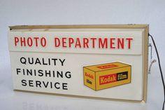 Kodak Photo Department Hanging Sign Advertising Display Camera | eBay