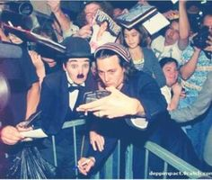 Charlie Chaplin & Johnny Depp. YESSS LOVE THEM BOTH.