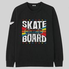 finest selection 1dccb b2705 Felpa uomo nera con scritta skateboard. L abbigliamento perfetto per i veri  skater.