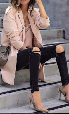 Taupe long blazer under $35
