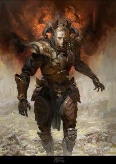 Ruan Jia - haze black flame caller knight