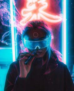 Cyberpunk city glasses futuristic new retro wave digital art illustration future wave blue sunglass Cyberpunk Girl, Arte Cyberpunk, Cyberpunk 2077, Cyberpunk Fashion, Cyberpunk Aesthetic, Neon Aesthetic, New Retro Wave, Retro Waves, Neon Photography