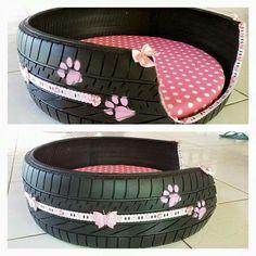 17 coole DIY-Projekte, die aus alten Reifen tolle Sachen für Ihren Innenhof machen – Dekoration De 17 cool DIY projects that turn old tires into great things for your courtyard … Tire Craft, Tyres Recycle, Recycled Tires, Diy Recycle, Reduce Reuse Recycle, Recycled Rubber, Used Tires, Diy Dog Bed, Doggie Beds