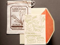 another seed packet wedding invitation idea  Here's what to write on invitations: http://www.thepapery.com/information.cfm