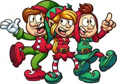 Buy Singing Christmas Elves by memoangeles on GraphicRiver. Vector clip art illustration with simple gradients. All in a single layer. Christmas Yard Art, Christmas Flyer, Christmas Town, Christmas Drawing, Christmas Clipart, Merry Christmas And Happy New Year, Christmas Design, Christmas Stencils, Christmas Cartoons