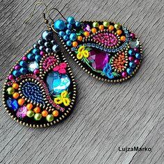 Gypsy tear náušnice / LujzaMarko - SAShE.sk - Handmade Náušnice