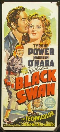 the black swan 1942 tyrone power rare daybill movie poster Old Film Posters, Classic Movie Posters, Cinema Posters, Movie Poster Art, Classic Movies, 1940s Movies, Old Movies, Vintage Movies, Great Movies