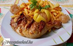 Bajor csirkecomb recept fotóval Hungarian Recipes, Baked Potato, Mashed Potatoes, Grilling, Food And Drink, Meals, Chicken, Baking, Ethnic Recipes