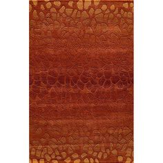 $420.74 Inject beauty and excitement into your home decor with this exquisite Hand-Tufted wool rug specially handmade by expert craftsmen from India. Create an elegant atmosphere in the room with such an accent piece of rich orange and brown shades.