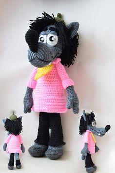 Wilk Crochet Wolf, Crochet Hats, Chrochet, Wolves, Felt, Knitting, Toys, Pattern, Animals