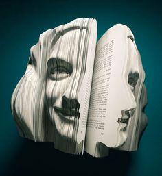 Book sculptures - Dutch Bookweek Written Portraits (Anne Frank)