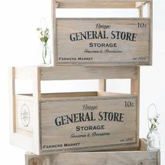 Cajas de madera vintage para bodas rústicas
