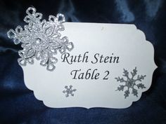 These pretty snowflake escort cards are perfect for winter weddings, banquets and parties. Each card has one 3 dimensional layered die cut