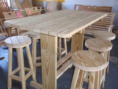 Wooden Outdoor Tables From Amish Swings & Things