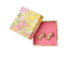 Lilly Pulitzer Resort '13- Bow Tie Earrings