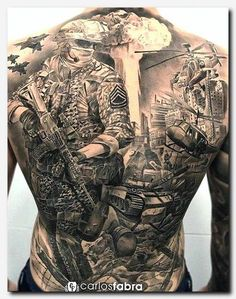 Combat Soldier Back Tattoo Tattoos Tattoos Army Tattoos with measurements 1080 X 1328 Military Back Tattoos - Arguably tattoos on the lower back include Army Tattoos, Native Tattoos, Military Tattoos, Bild Tattoos, Body Art Tattoos, Sleeve Tattoos, Forearm Tattoos, Warrior Tattoos, Tattoo Ideas