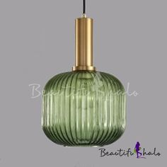 Ribbed Glass Geometric Hanging Light Simplicity Single Light Ceiling Pendant Light in Brass Finish, Fashion Style Modern Lighting Dining Lighting, Modern Lighting, Ceiling Pendant, Ceiling Lights, Photo Packages, Blue Ribbon, Downlights, Hanging Lights, Modern Contemporary