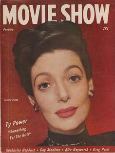 Loretta Young on the January 1947 Movie Show