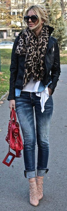 Red + Leopard <3