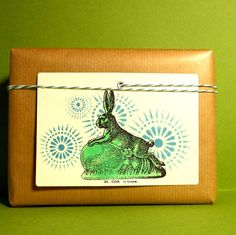 Rubber stamp Easter bunny with egg / Rubber stamp by MAKIstamps