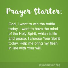 Joyce Meyer Ministries: Daily Devo - Tap the link to shop on our official online store! You can also join our affiliate and/or rewards programs for FREE! Prayer Scriptures, Faith Prayer, My Prayer, Bible Verses, Joyce Meyer Quotes, Joyce Meyer Ministries, Inspirational Prayers, Inspiring Sayings, Daily Word