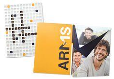 ARMS pocket folder design #Pocketfolder #design #crossword #booklet #folder #agency Cinema, Branding, Design, Movies, Brand Management, Identity Branding, Movie Theater