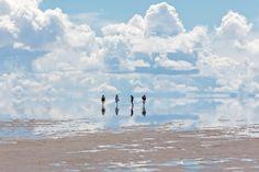 Vi är i Salar de Uyuni, världens största saltöken (Bolivia)