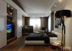 гостевая спальня в доме в поселке Медовое: интерьер, квартира, дом, спальня, современный,