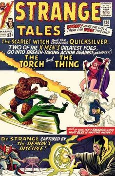 Strange Tales #128 - Quicksilver And The Scarlet Witch