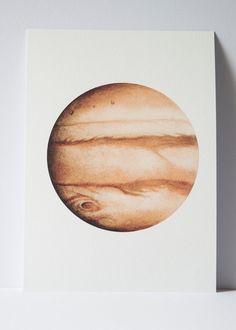 Watercolour Jupiter print, Planet art, Planet Watercolor, planet Print, Bohemian art, science illustration, Space Art, Lunar art, boho Decor