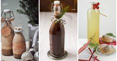 10 liquori di Natale fatti in casa Alcoholic Drinks, Cocktails, No Bake Cheesecake, Limoncello, Preserves, Italian Recipes, Homemade, Bottle, Christmas