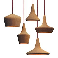 Buy Cork Products with amazing design in our online store. It´s a shift for cork. Cork Lighting, Interior Lighting, Modern Lighting, Lighting Design, Pendant Lighting, Ceramic Light, Suspension Design, Luminaire Design, Wooden Lamp