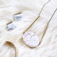 emblem jewelry, the pop of marble every outfit needs - more style inspiration at jojotastic.com