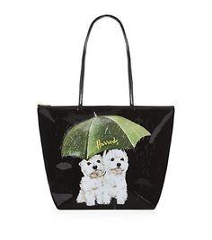 Harrods Westies in the Rain Shoulder Bag