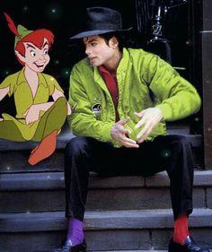 Michael Jackson & Peter Pan, love his socks! :)  #MJ