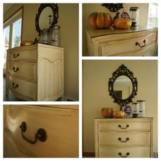 Three steps to a vintage refinished dresser!